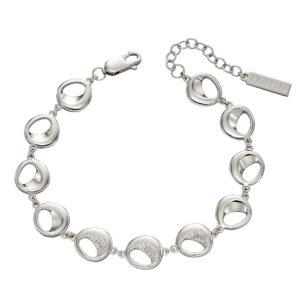 Organic CZ Pave Bracelet