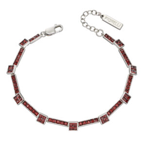 Princess Cut Burgundy Crystal Tennis Bracelet
