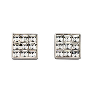 Princess Cut Clear Crystal Stud Earrings