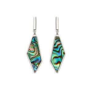 Asymmetric Earrings With Abalone