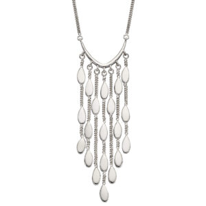 Drop Oval Shaped Waterfall Necklace