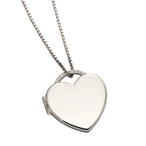 Heart Shaped CZ Pave Locket