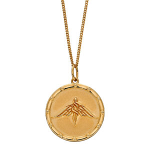Goddess Medallion With Yellow Gold Plating