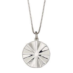 Diamond Cut Bevelled Pendant
