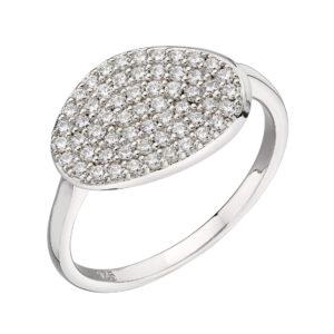 Organic Shape Full Pave Ring
