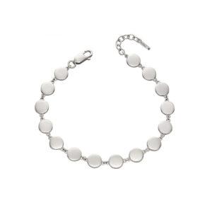 Silver Flat Disc Bracelet