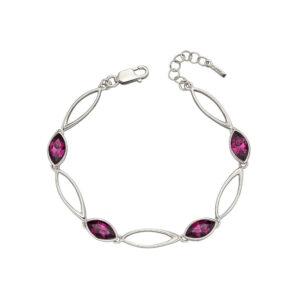 Amethyst Navette Twist Bracelet