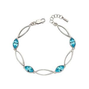 Aqua Navette Twist Bracelet