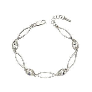 Crystal Navette Twist Bracelet