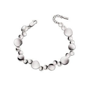 Organic Silver Tennis Bracelet