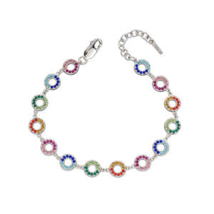 Rainbow Open Disc Bracelet