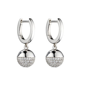 Pave Ball Earring