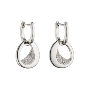 Assembled Hoop Earrings With CZ