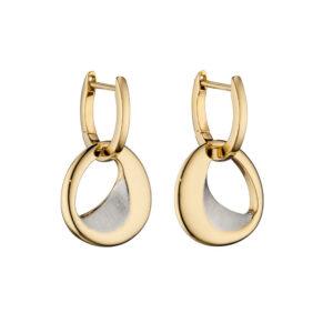 Assembled Hoop Gold Earrings