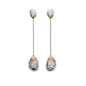 Pebble Hammered Drop Earrings