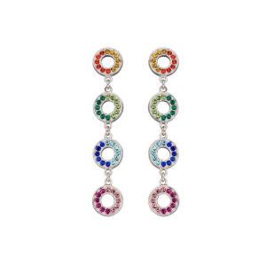 Rainbow Open Disc Earrings