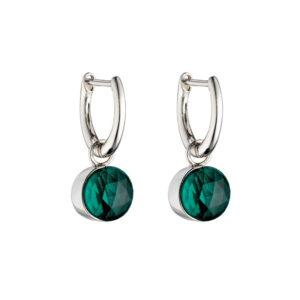 Rose Cut Green Earrings