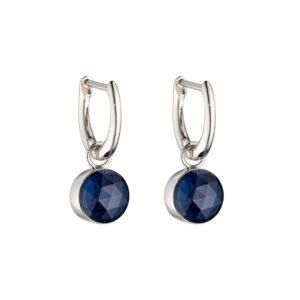 Rose Cut Dark Blue Earrings