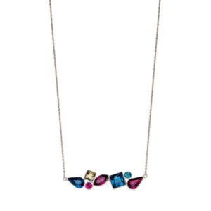Abstract Mix Stone Necklace