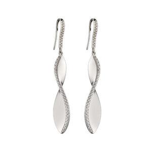 Cubic Zirconia Twist Earrings