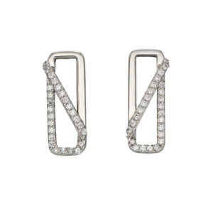 Rectangle Pave Earrings