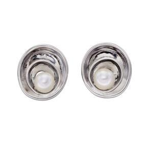 Fresh Water Pearl Swirl Stud Earrings