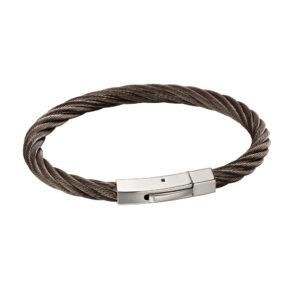 Gunmetal Steel Twist Bracelet