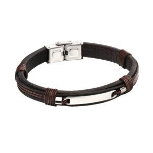 ID Woven In Leather Bracelet