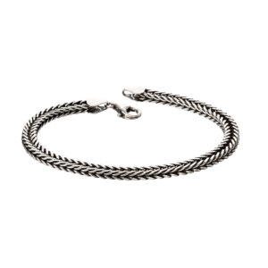 Oxidised Fox Tail Chain Bracelet