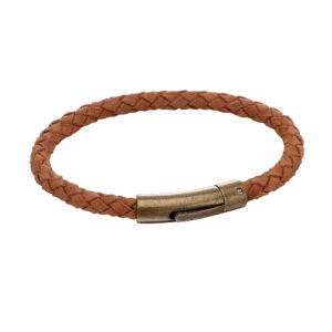 Brown Suede Antique Clasp Bracelet