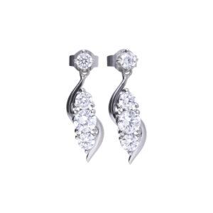 CZ Fancy Drop Earrings