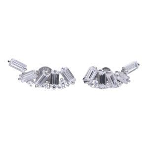 Fancy Baguette Crawler Earrings