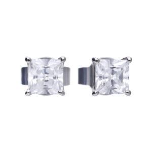 Princess Cut CZ Stud Earrings