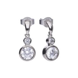 Rubover CZ Double Drop Earrings