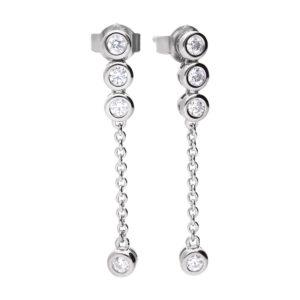 Rubover CZ Drop Earrings