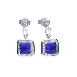 Sapphire Art Deco Vintage Earring