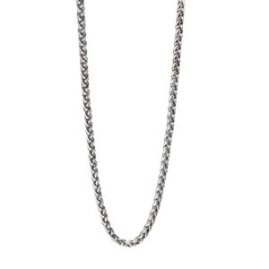 Steel Twisted Link Necklace