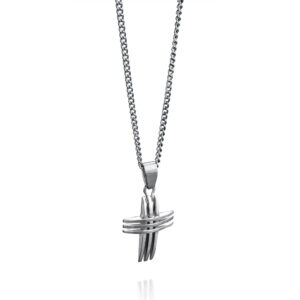 Stainless Steel Triple Cross Pendant