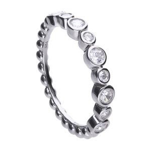 CZ Rubover Eternity Ring