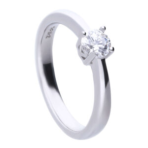 4 Claw CZ Solitaire Ring 0.50ct