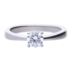 4 Claw CZ Solitaire Ring .75ct