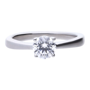 4 Claw CZ Solitaire Ring 1ct
