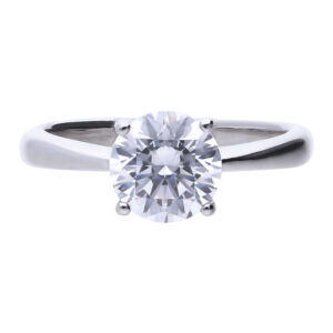 4 Claw CZ Solitaire Ring 2ct