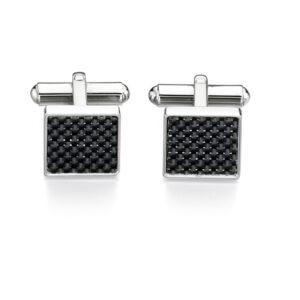 Stainless Steel Black Carbon Fiber Cufflink