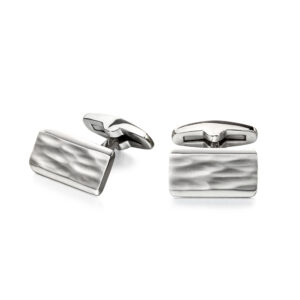 Textured Centre And Bevelled Polished Edge Cufflinks