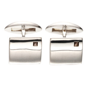 Square Quartz Sterling Silver Cufflinks