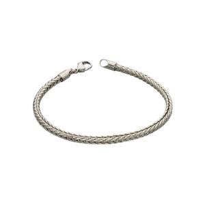 Stainless Steel Plaited Fox Chain Bracelet