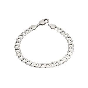 Sterling Silver Diamond Cut Curb Chain Bracelet