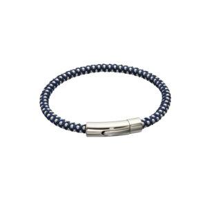 Navy Para Cord Beaded Bracelet