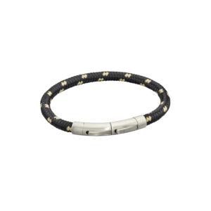 Black And Beige Para Cord Bracelet